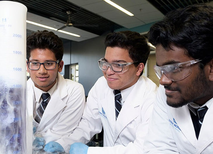 JMSS Students In Lab With Flask